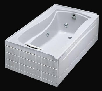 KOHLER K 1257 0 Mariposa 6 Foot Whirlpool Bathtub, Massage Tubs U2013 White